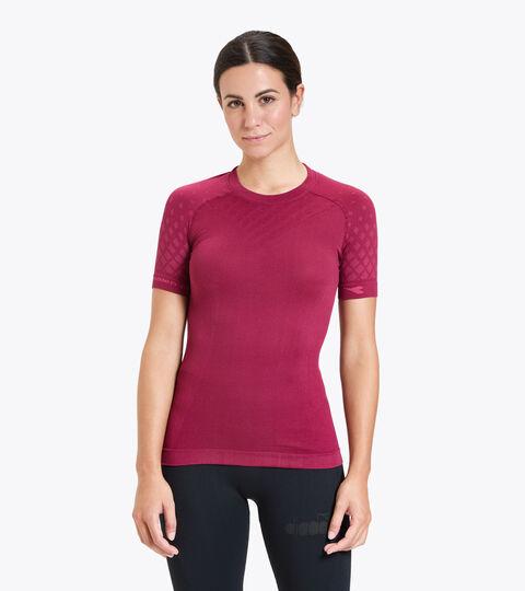 Short-sleeved training t-shirt - Women L. SS T-SHIRT ACT VIOLET RUBINE - Diadora