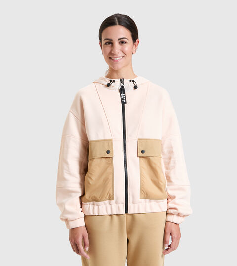 Sports jacket - Women  L. TRACK JACKET URBANITY PASTEL ROSE TAN - Diadora