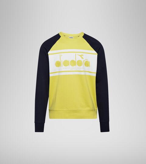 Sweatshirt with logo - Men SWEATSHIRT CREW SPECTRA CLASSIC NAVY/YELLOW - Diadora