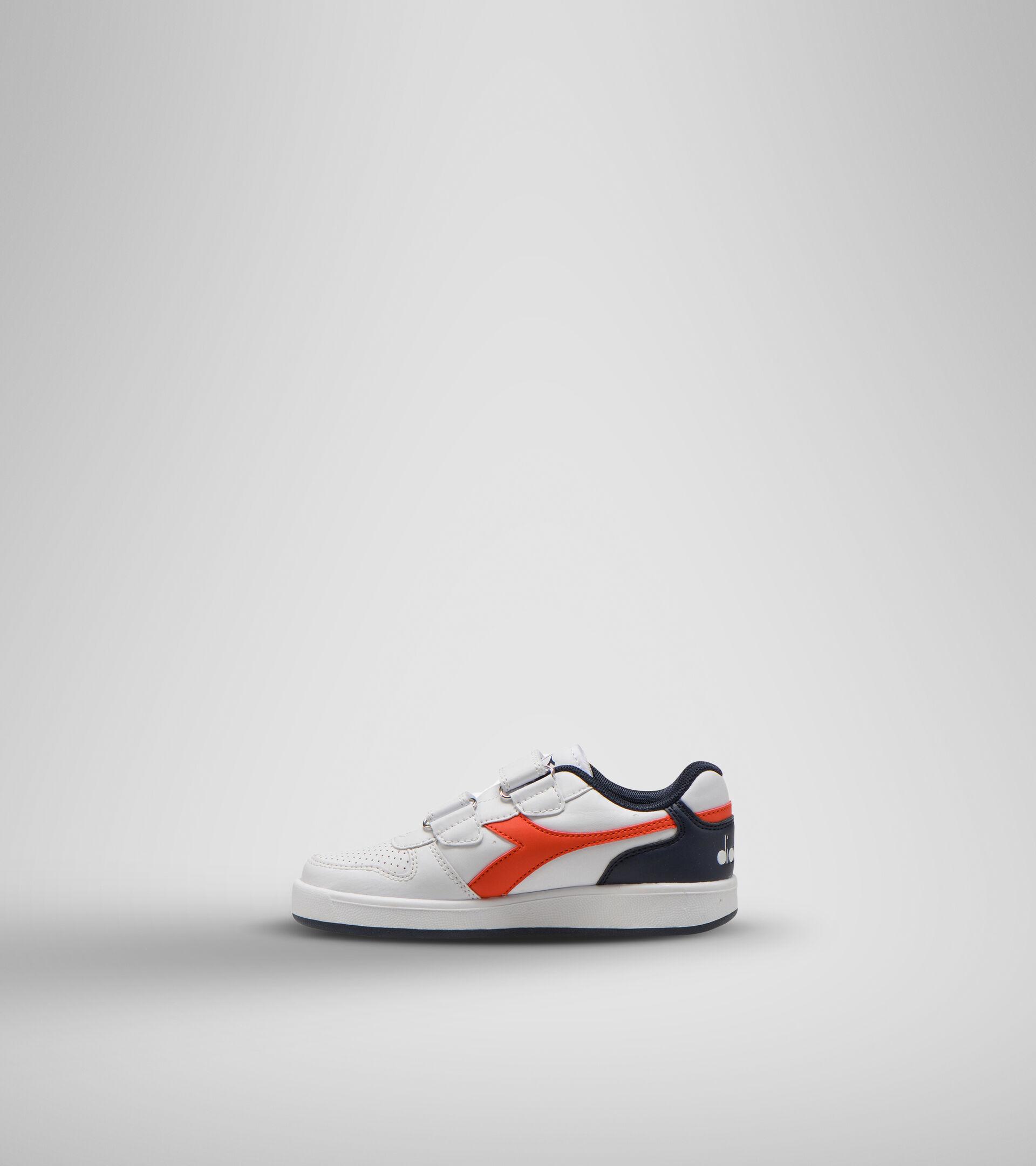 Chaussures de sport - Enfants 4-8 ans PLAYGROUND PS BLANC/ROUGE FIESTA/NOIR IRIS - Diadora