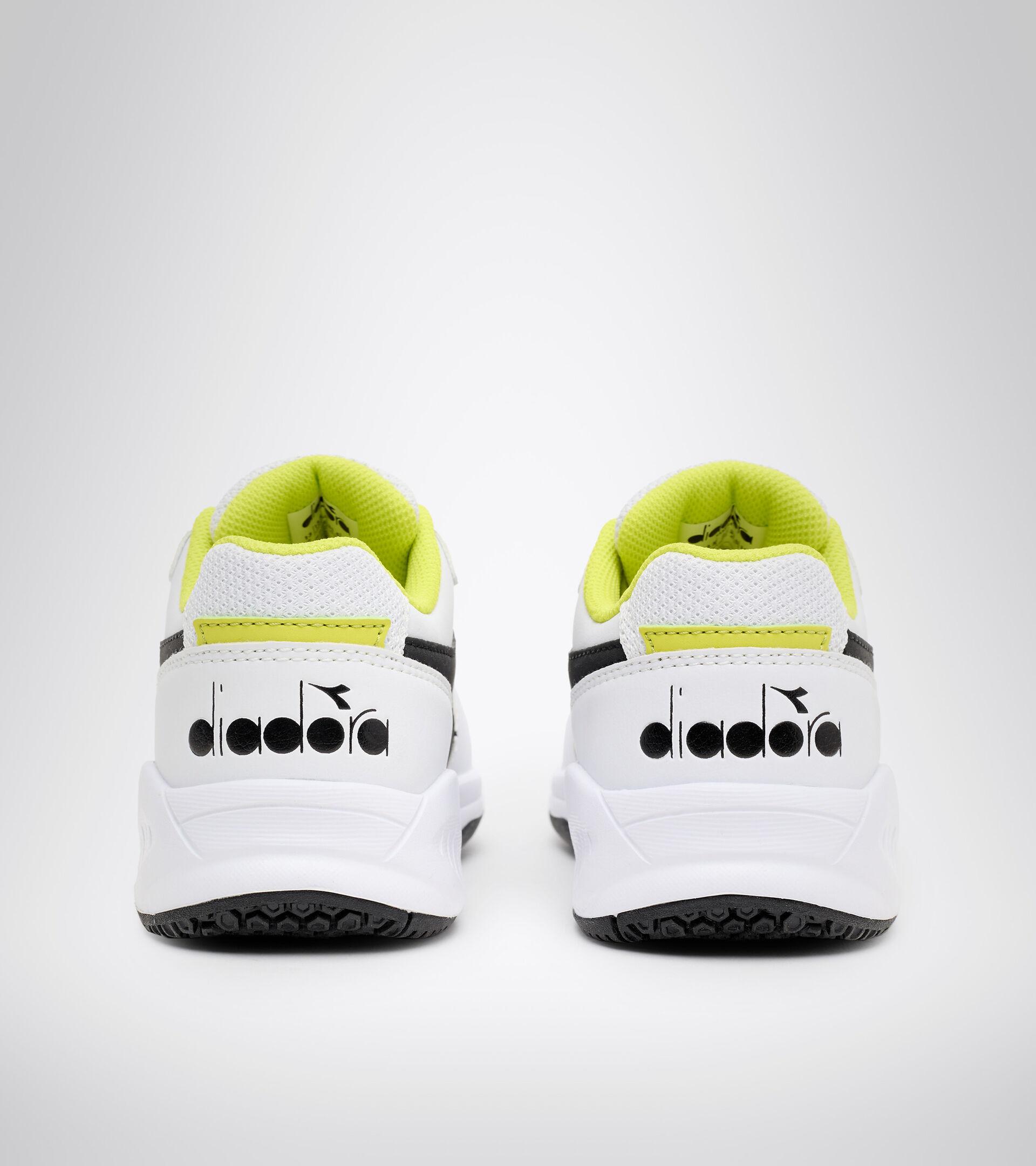 Clay and hard court tennis shoe - Kids S. CHALLENGE 3 SL JR WHITE/BLACK/SULPHUR SPRING - Diadora