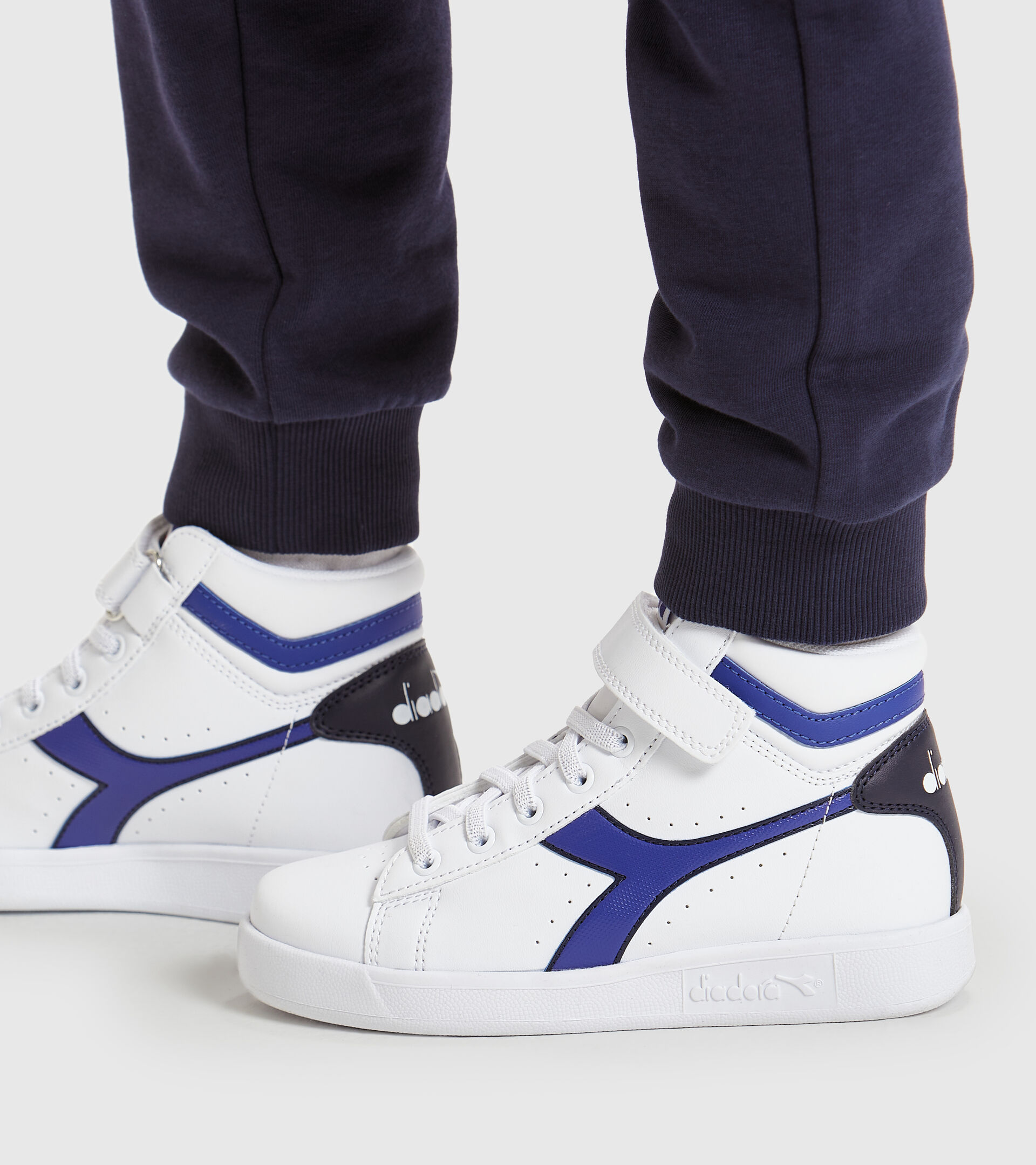 Chaussures de sport - Enfants 4-8 ans GAME P HIGH PS BLANC/BLEU CABAN - Diadora