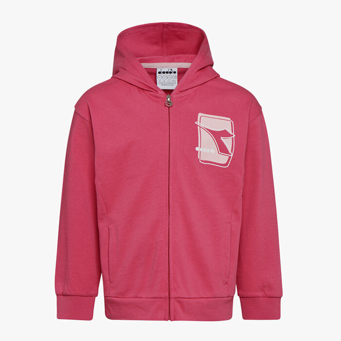 JU. HOODIE FZ ELEMENTS, RED CLARET, large