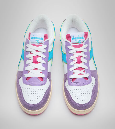 Chaussures de sport - Femme MAGIC BASKET LOW ICONA WN ENGLISH LAVENDER/WHITE - Diadora