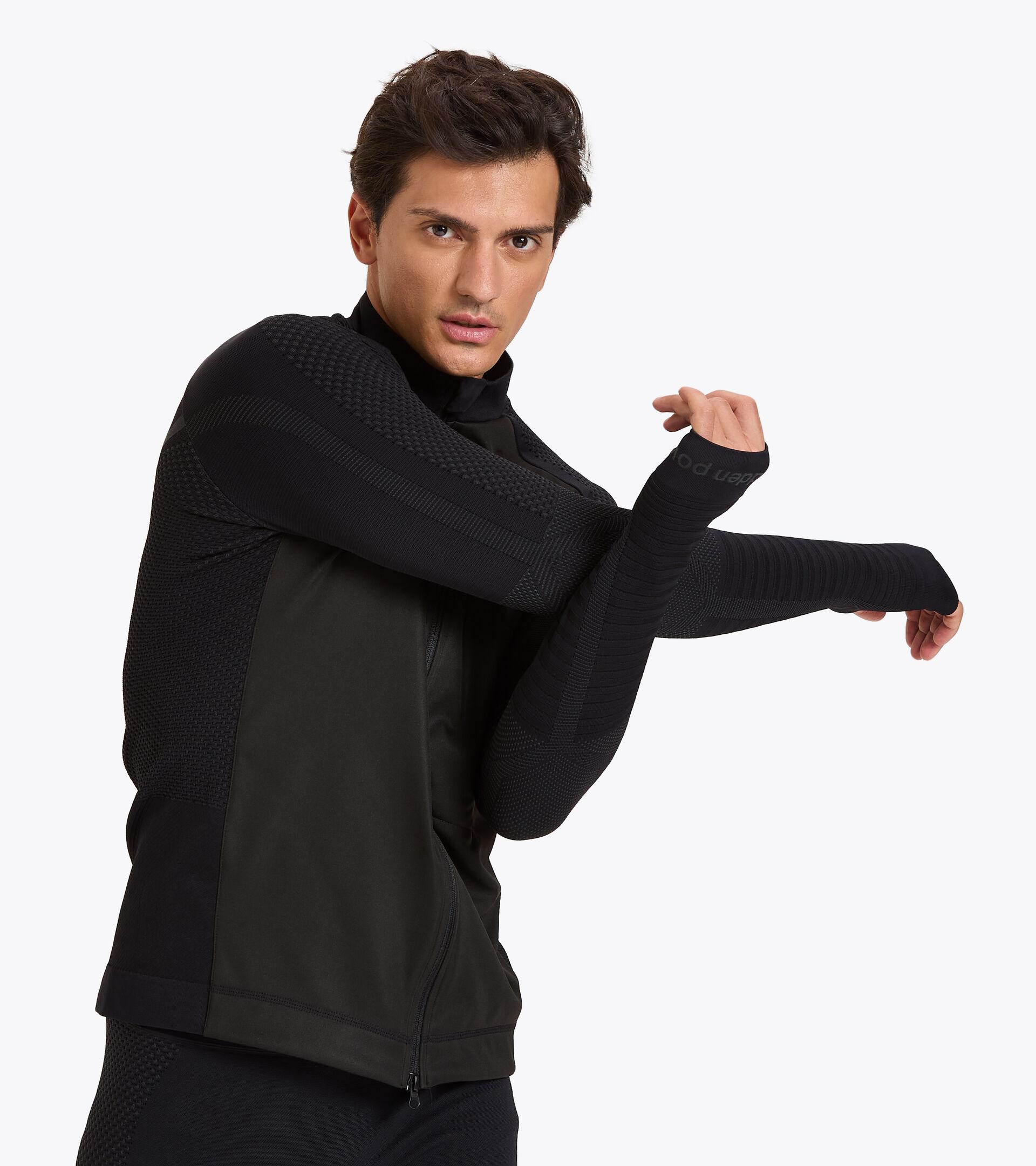Chaqueta para correr Made in Italy - Hombre HIDDEN POWER JACKET NEGRO - Diadora