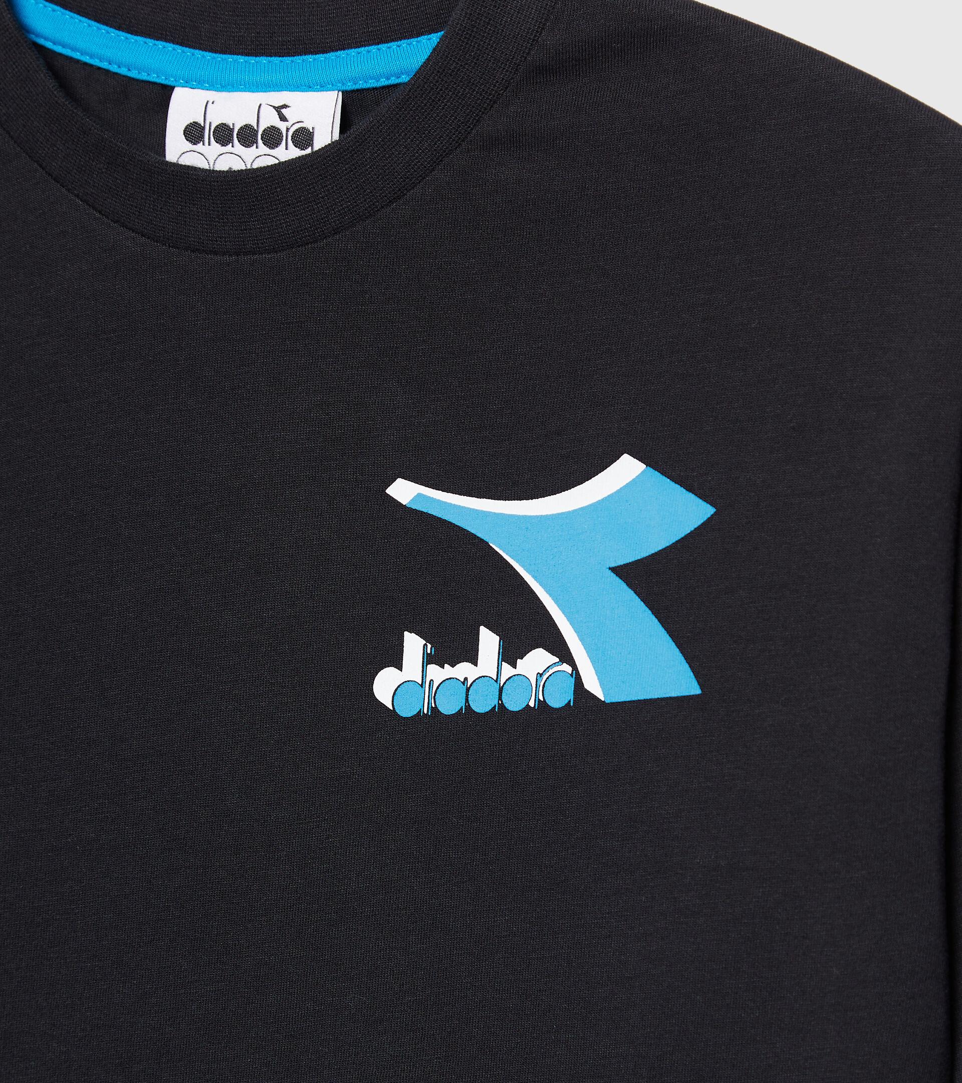 Apparel Sport BAMBINO JU.LS T-SHIRT CUBIC NEGRO Diadora