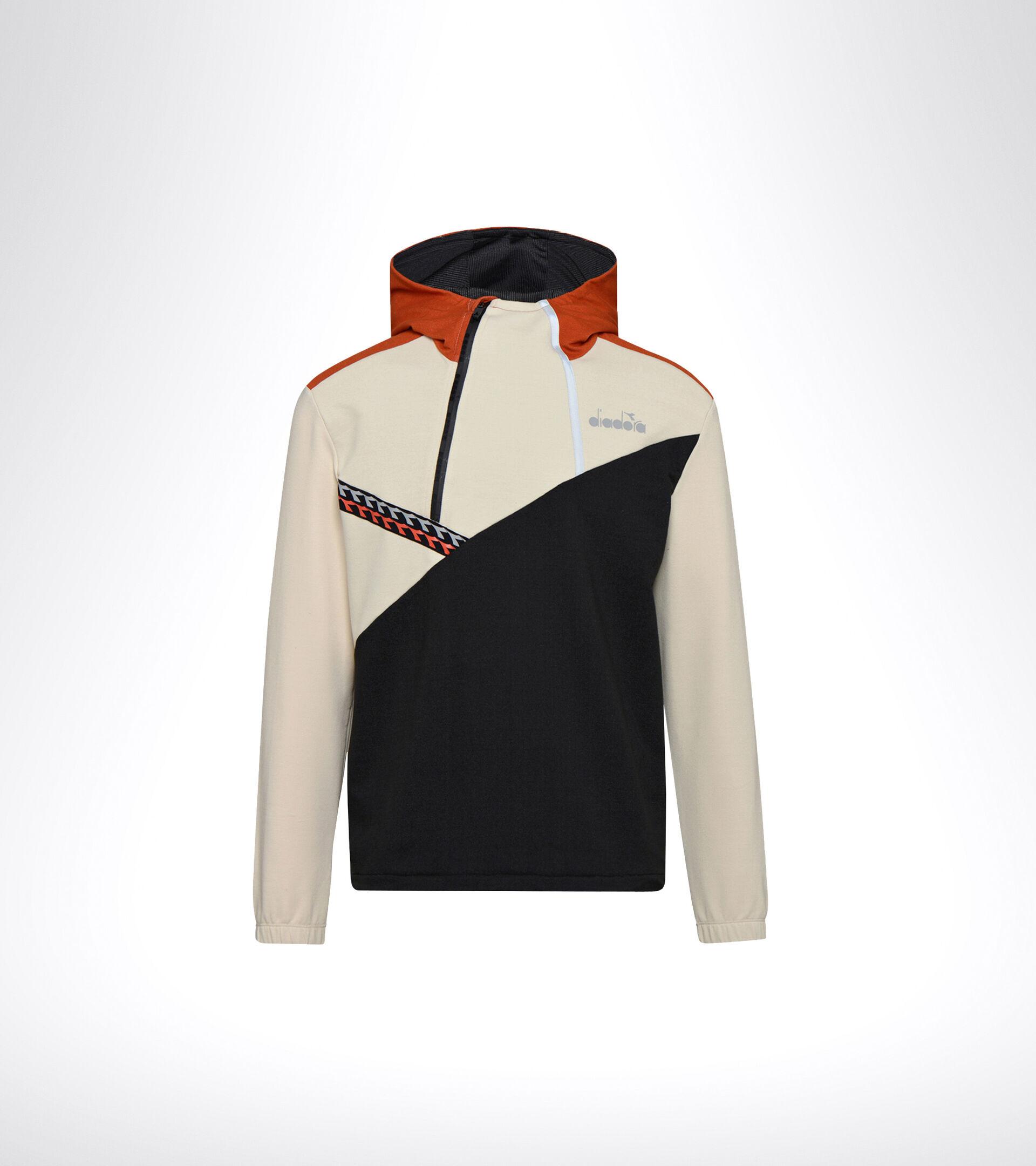 Running sweatshirt - Men HD LIGHTWEIGHT SWEAT BE ONE BLACK/ALMOND MILK - Diadora