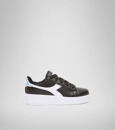 Sports shoes - Kids 4-8 years GAME STEP PS BLACK /WHITE - Diadora