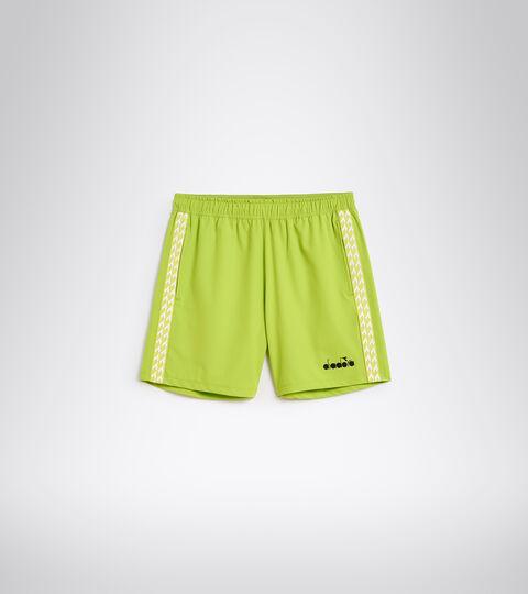 Tennis shorts - Men BERMUDA MICRO LIME GREEN - Diadora