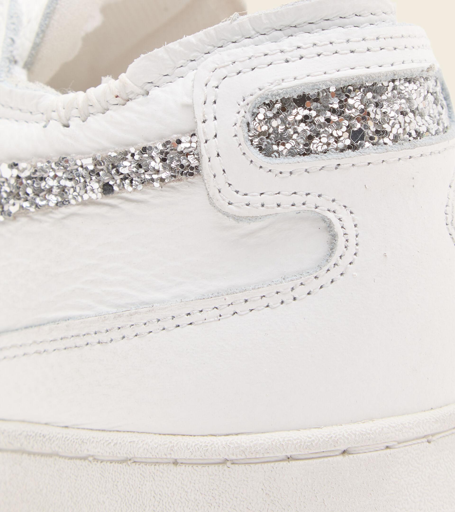Heritage-Schuh - Damen MI BASKET ROW CUT ANDROMEDA WN WEISS/SILBER - Diadora