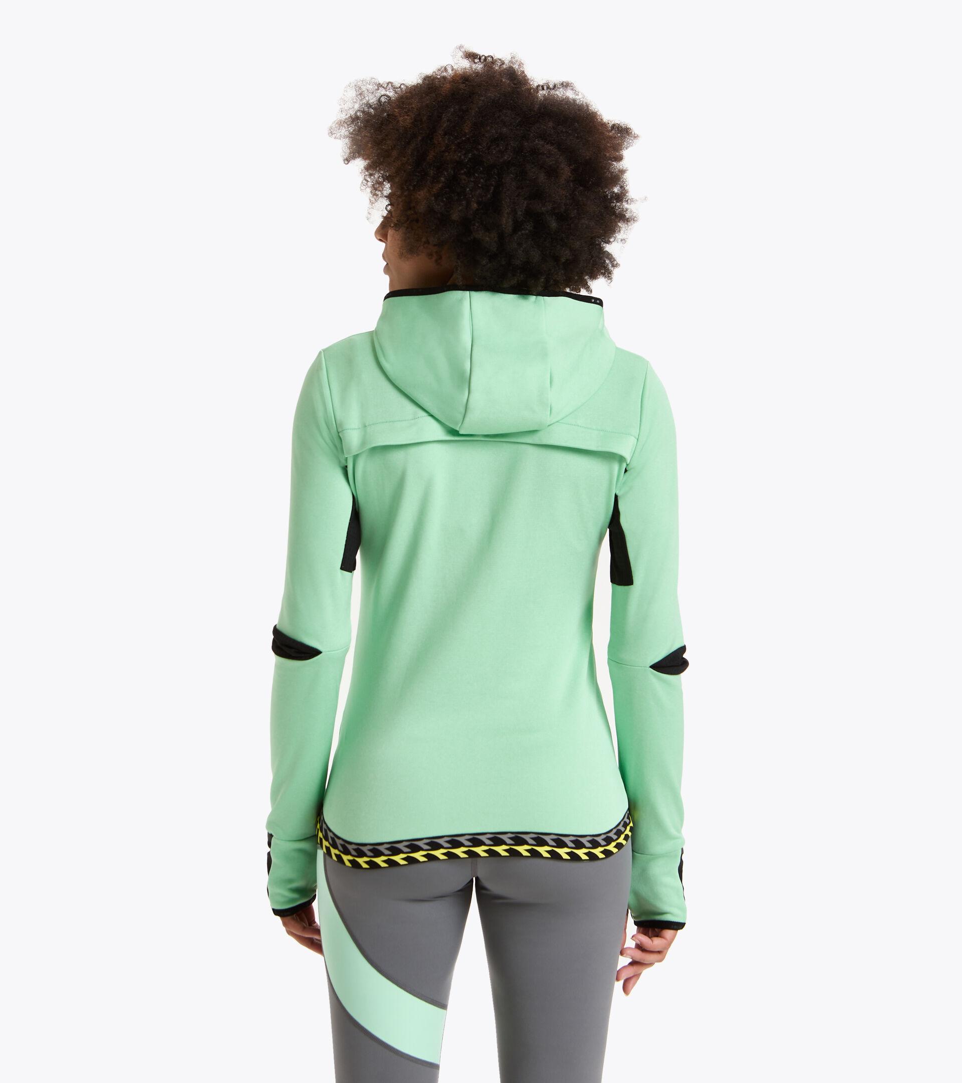 Winter-Laufsweater - Damen L. HD WARM UP WINTER SWEAT ESCHE GRUN - Diadora
