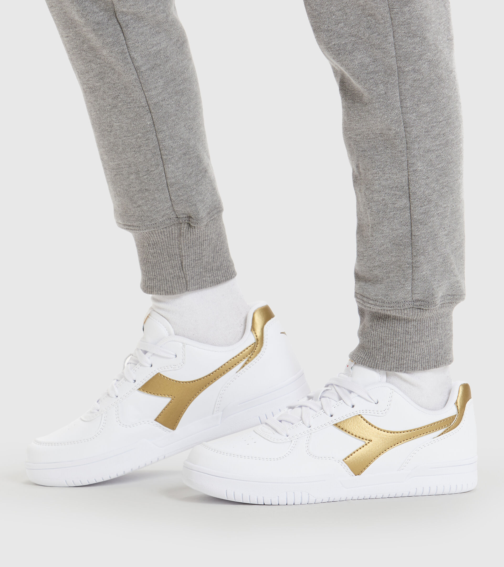 Sports shoes - Youth 8-16 years RAPTOR LOW GS WHITE/GOLD - Diadora