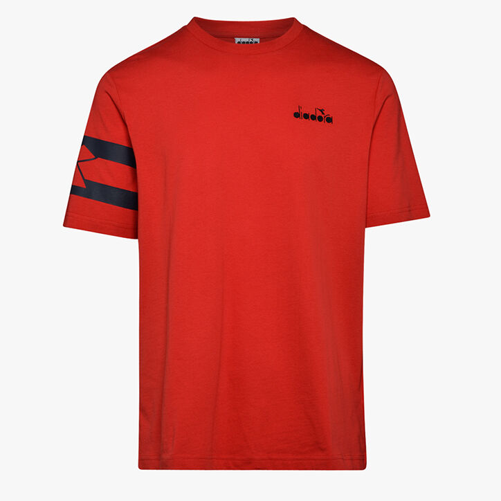 T-SHIRT SS HOOPS, TOMATO RED, large