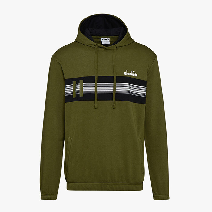 HOODIE SWEAT BLKBAR, WINTER MOSS, large