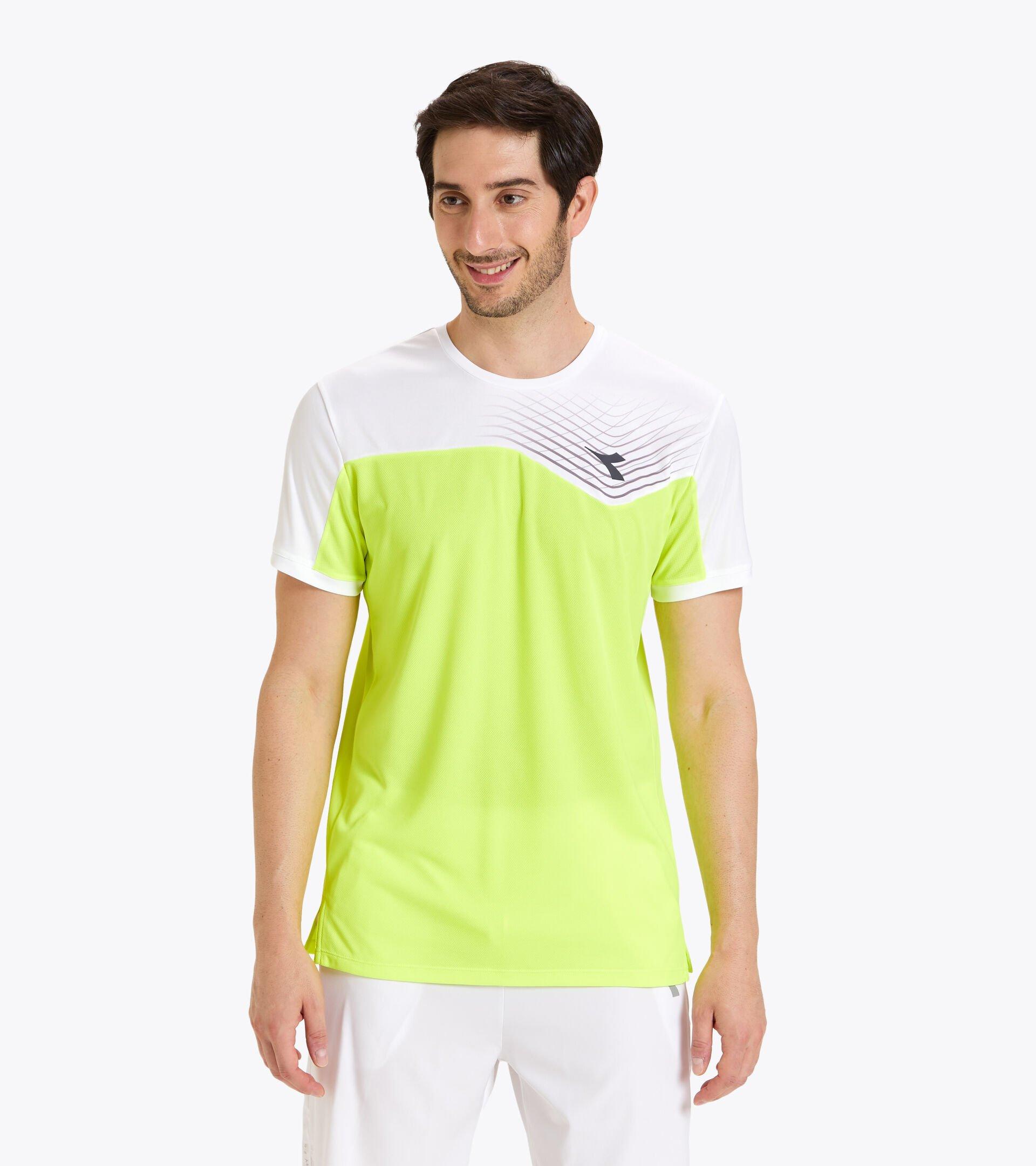 Tennis-T-Shirt - Herren T-SHIRT COURT FLUO GELB DD - Diadora