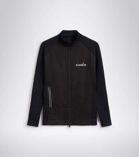 Italian-made running jacket - Women L. HIDDEN POWER JACKET BLACK - Diadora