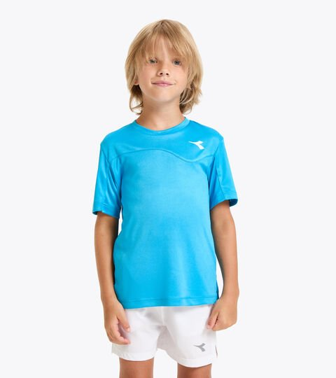 T-shirt de tennis - Junior J. T-SHIRT TEAM BLEU ROI FLUO - Diadora