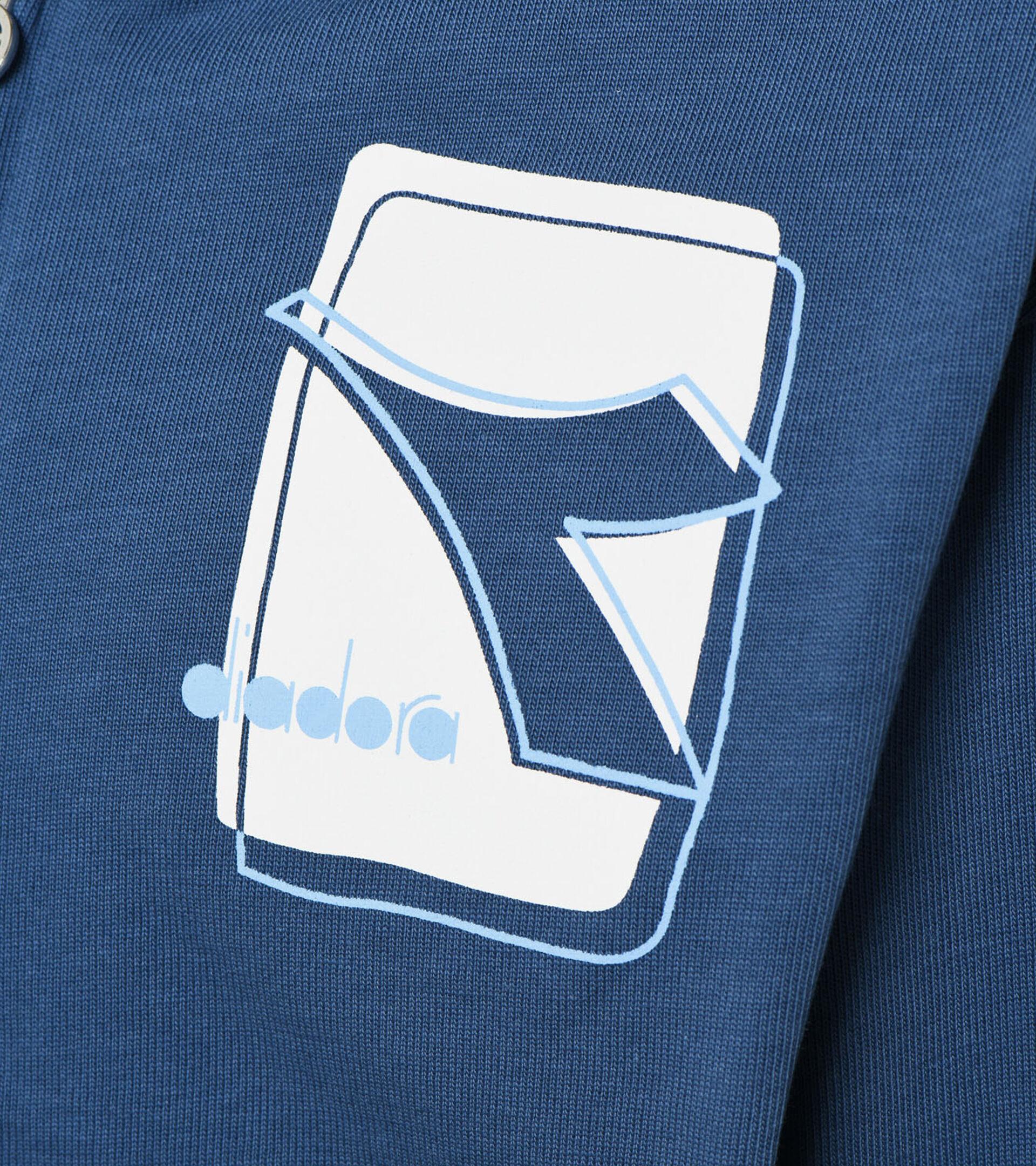 Sports jacket - Boys and girls JU. HOODIE FZ ELEMENTS ENSIGN BLUE - Diadora