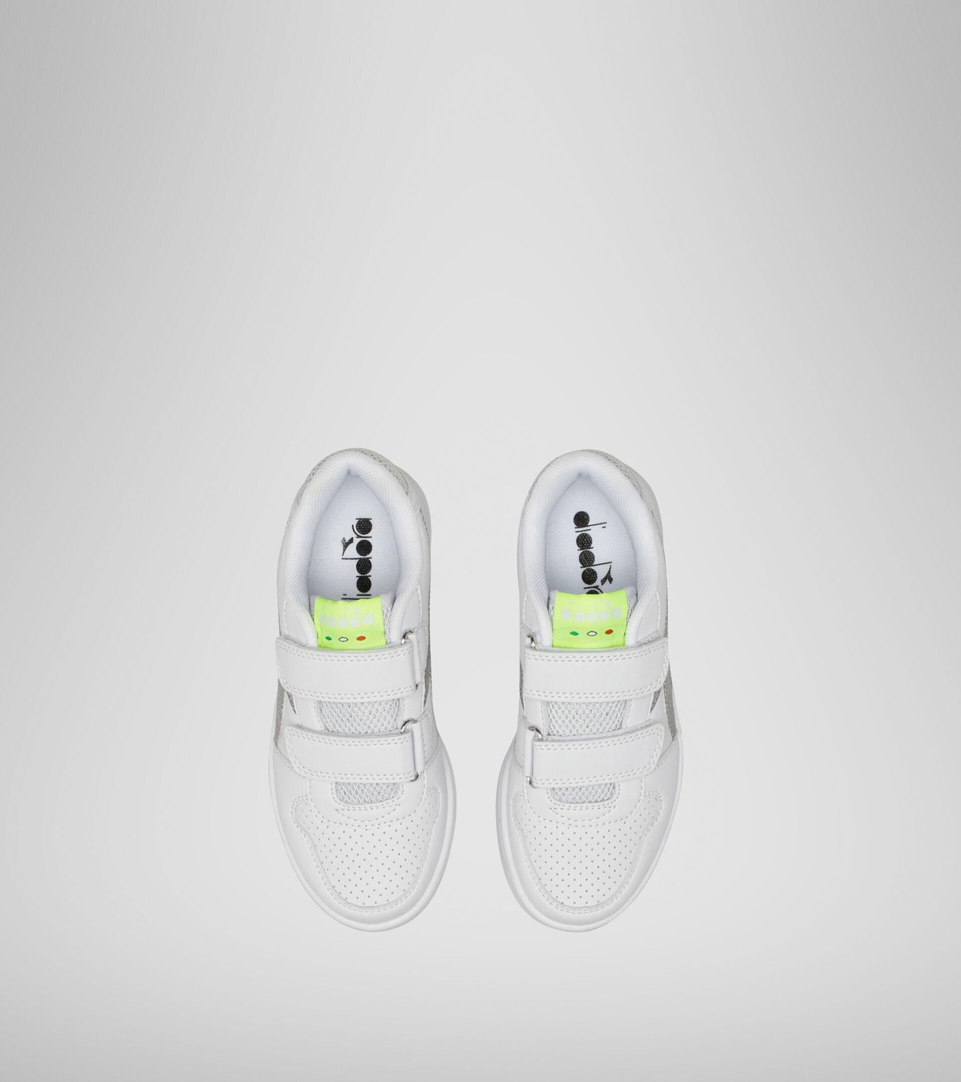 Sports shoes - Kids 4-8 years PLAYGROUND PS GIRL WHITE/YELLOW FLUO. - Diadora