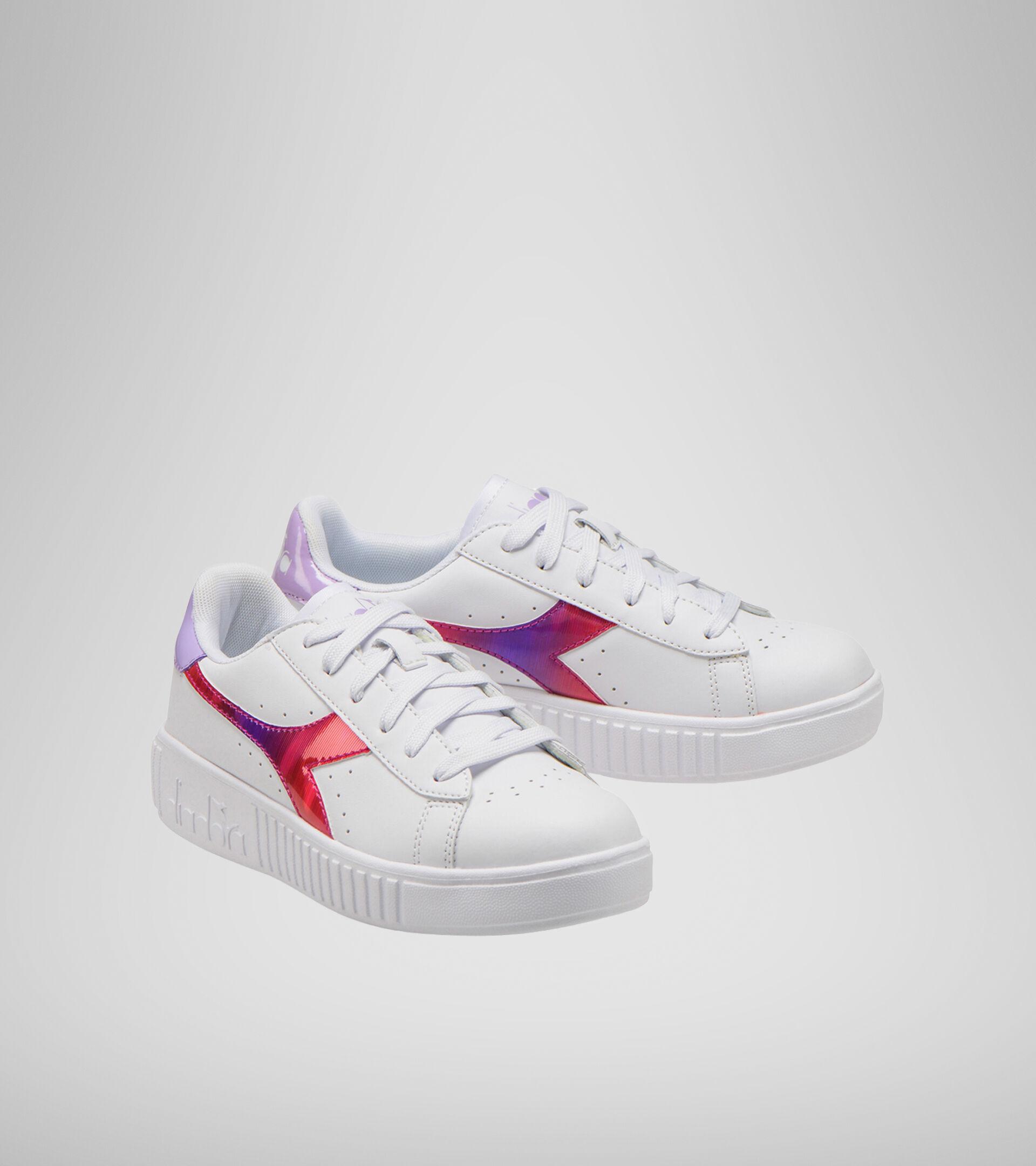 Footwear Sport BAMBINO GAME STEP RAINBOW GS WHITE/LAVENDULA Diadora