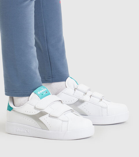 Chaussures de sport - Enfants 4-8 ans GAME P PS GIRL BLANC/BLEU TURQUOISE - Diadora