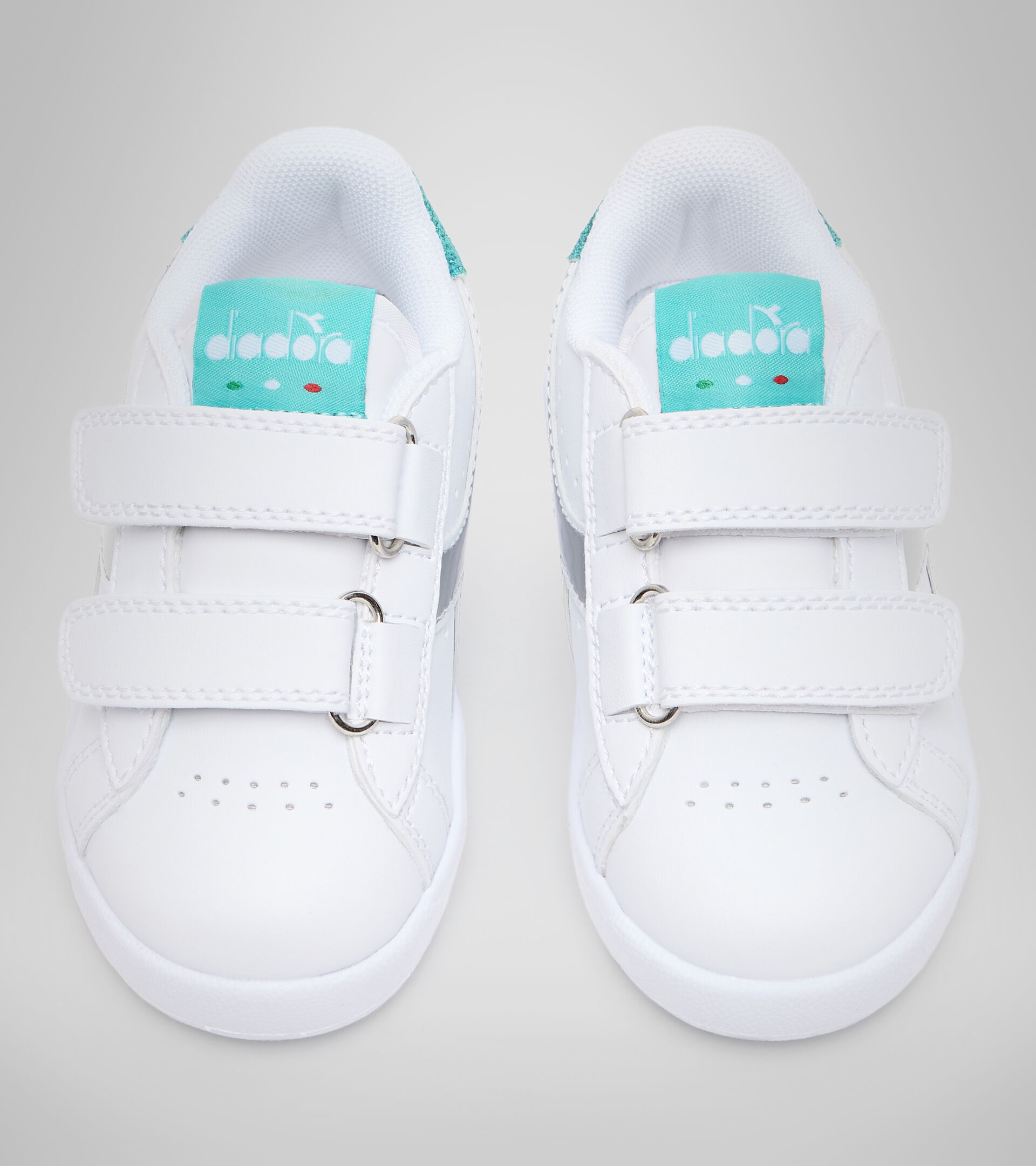 Chaussures de sport - Bambins 1-4 ans GAME P TD GIRL BLANC/BLEU TURQUOISE - Diadora