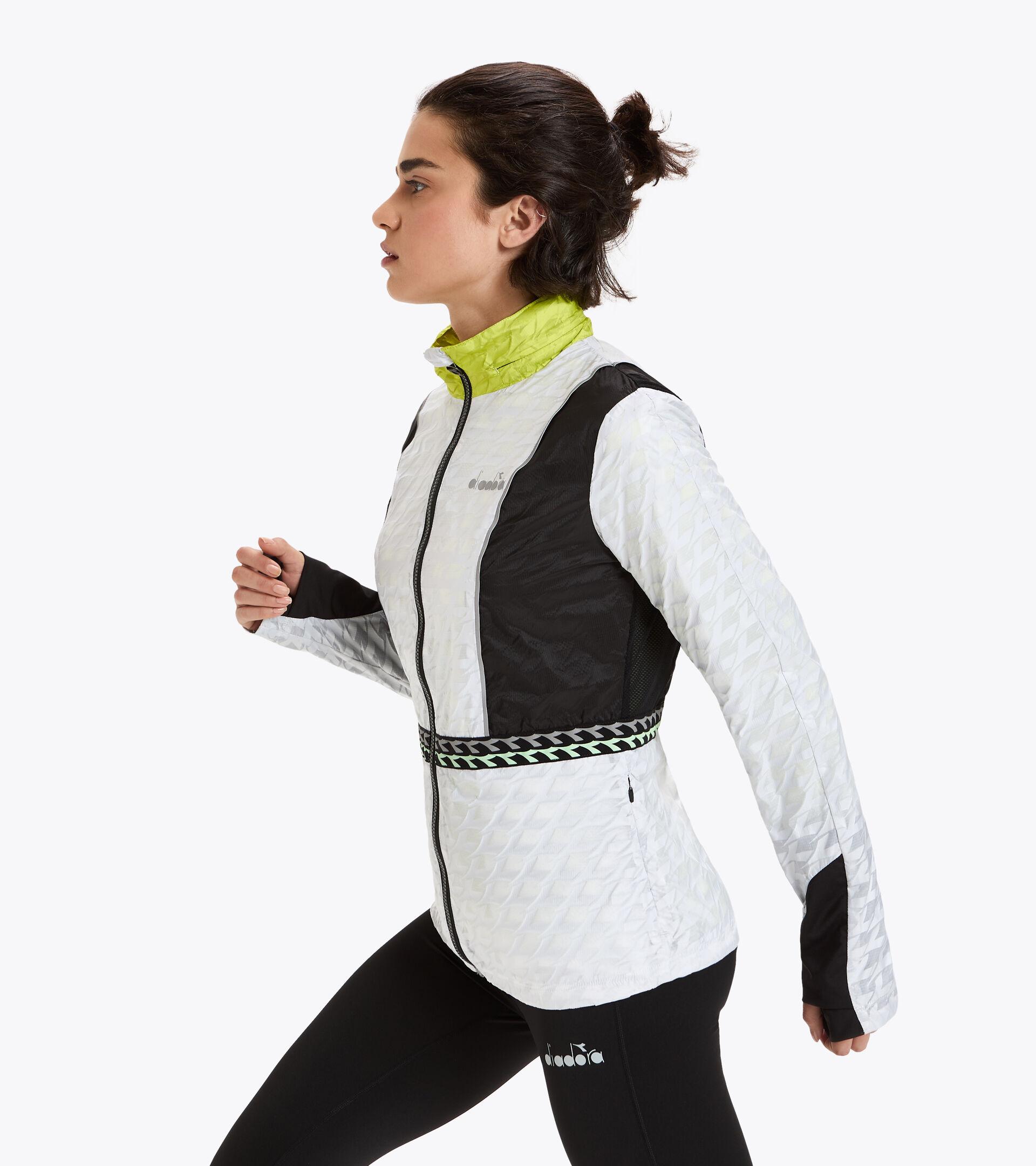 Chaqueta isotérmica para correr - Mujer L. ISOTHERMAL JACKET BE ONE BLANCO VIVO - Diadora