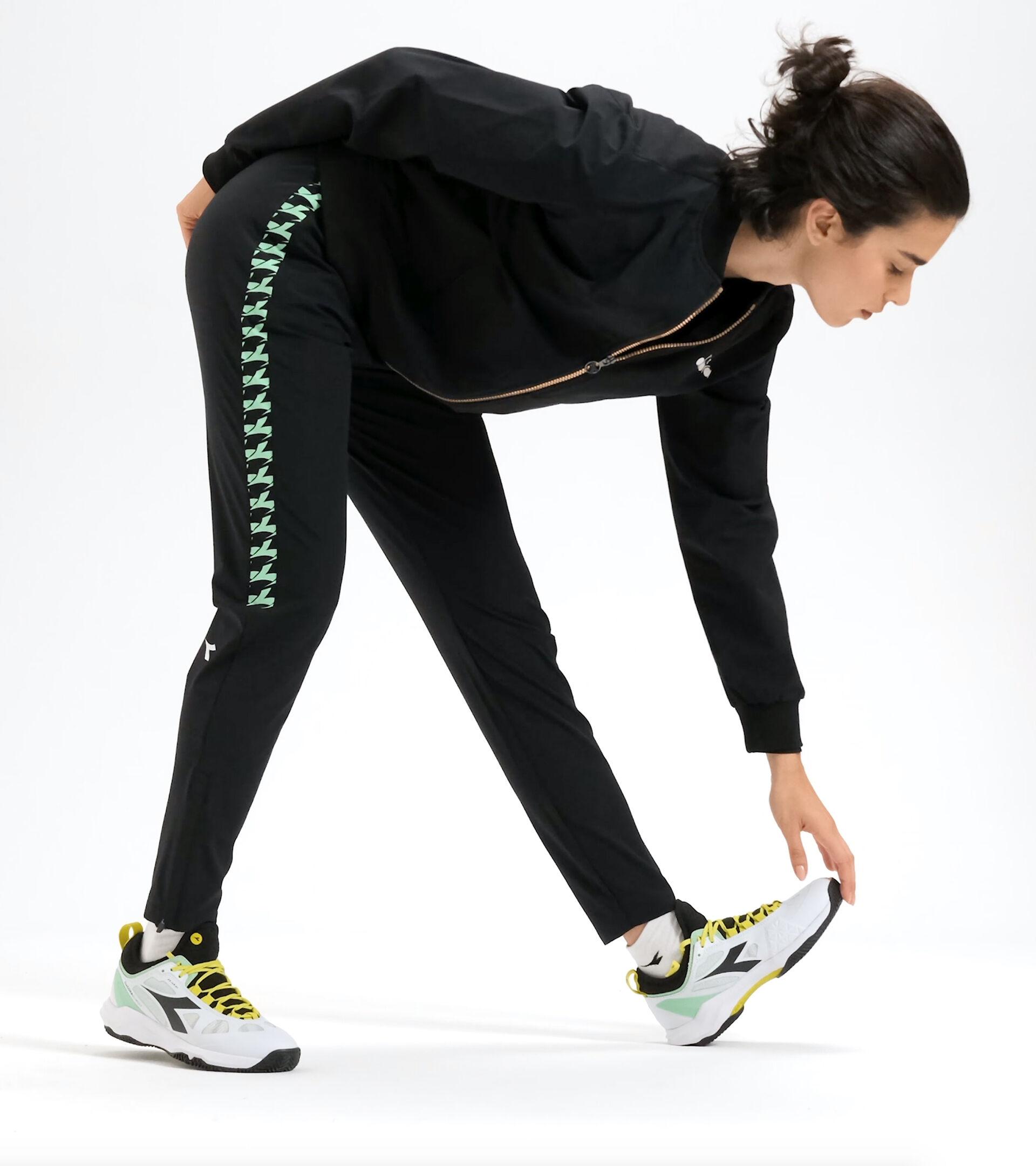 Tennis trousers - Women L. PANTS CHALLENGE BLACK - Diadora