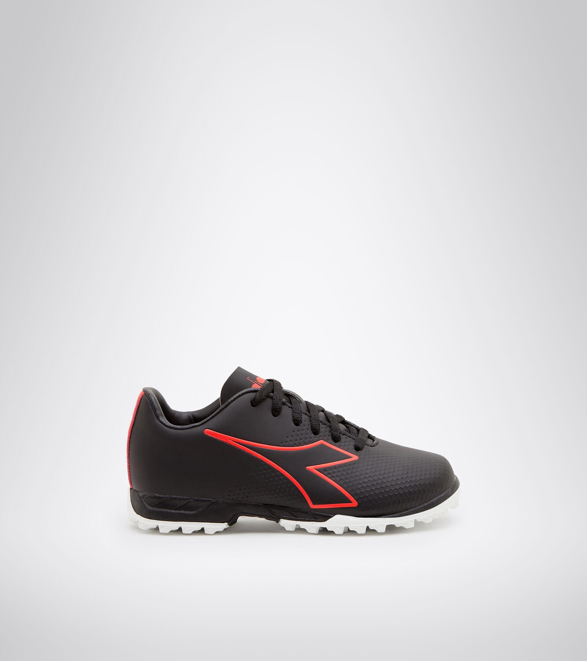 Chaussures de football pour terrains synthétiques - Garçon PICHICHI 4 TF JR NOIR/ROUGE FLUO/BLANC - Diadora