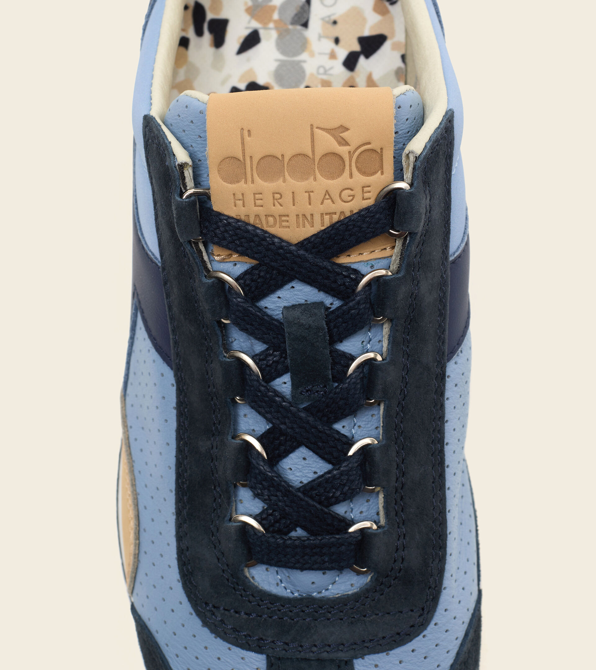 Zapatillas Heritage Made in Italy - Hombre EQUIPE ITALIA TELA VACQUERA DESTENIDO - Diadora