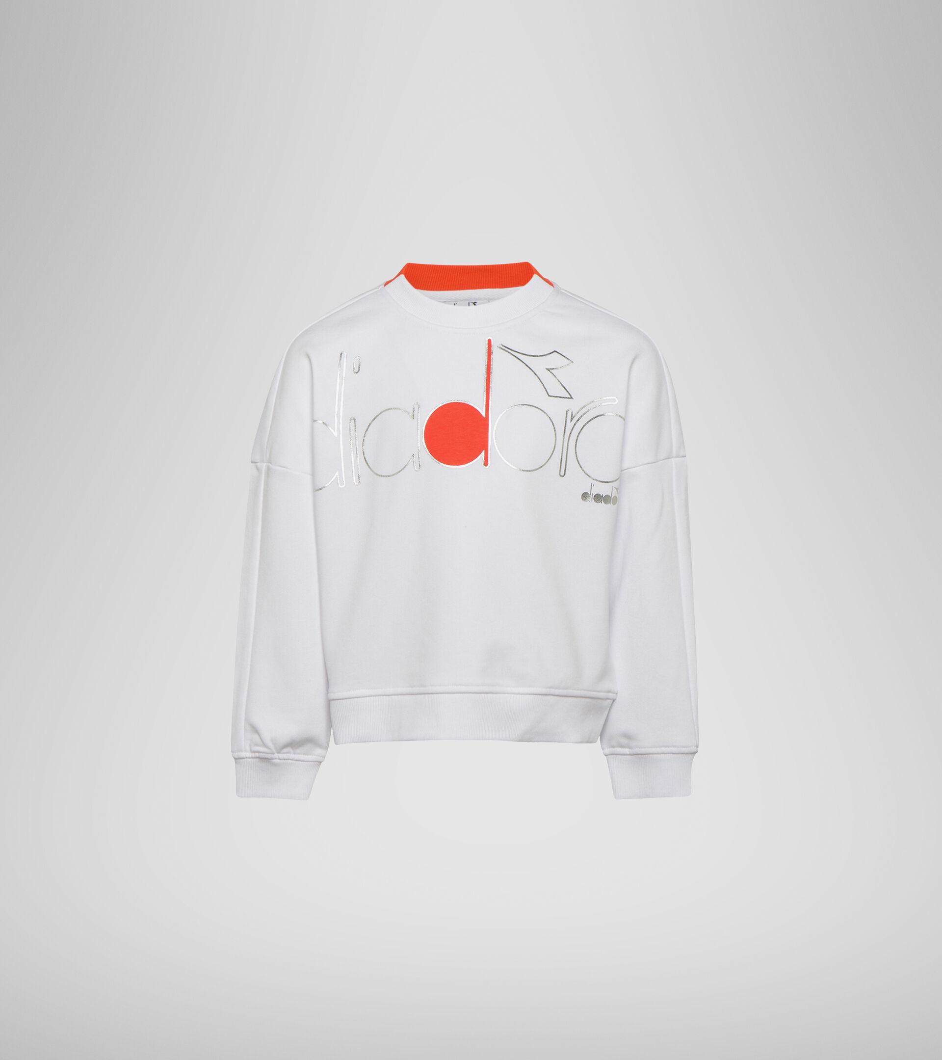 Sweater mit Rundhalsausschnitt - Mädchen JG. SWEATSHIRT CREW LOGO MANIA STRAHLEND WEISSE - Diadora