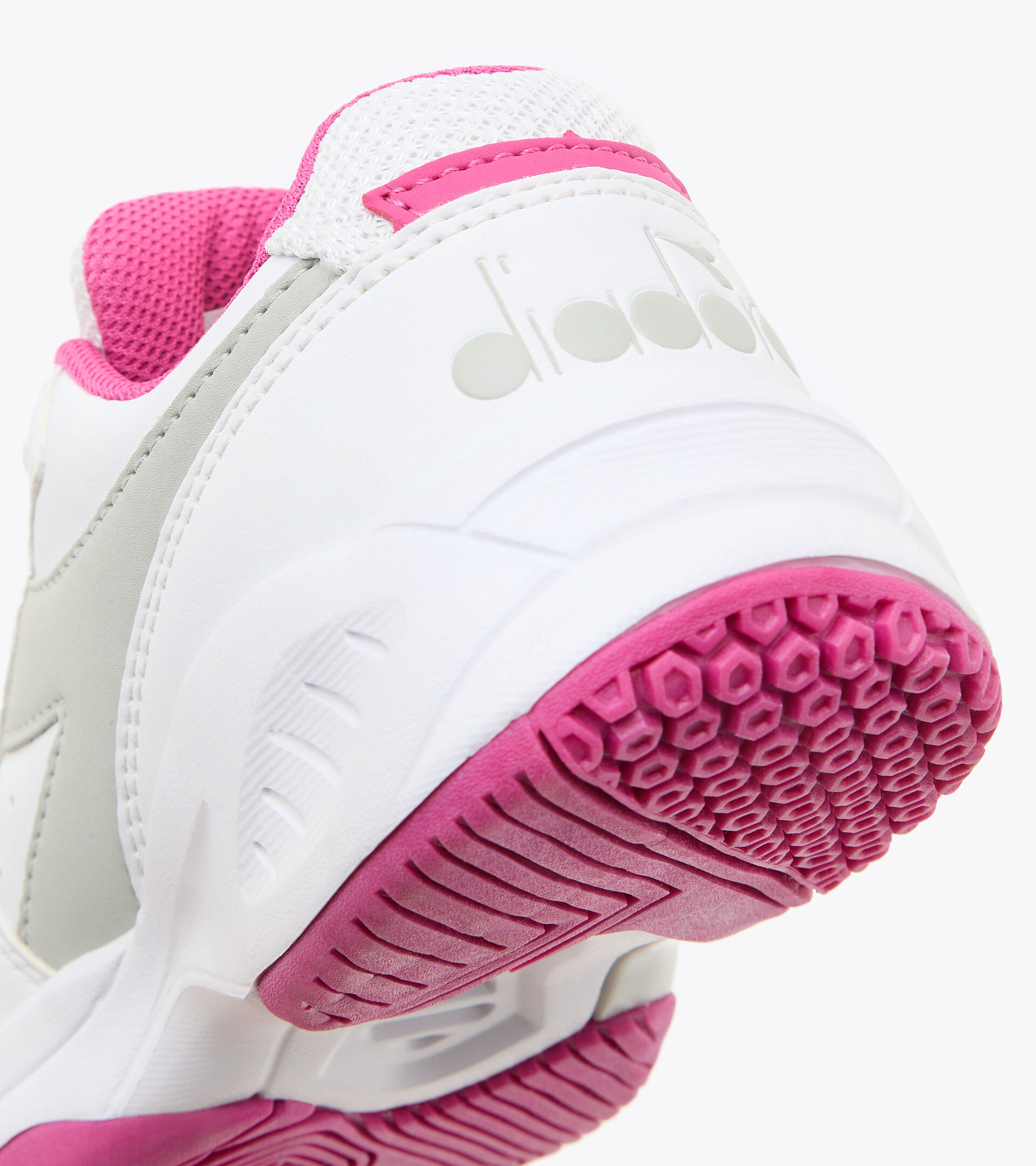 Footwear Sport BAMBINO S. CHALLENGE 3 SL JR BLANCO/ROSA IBIS Diadora