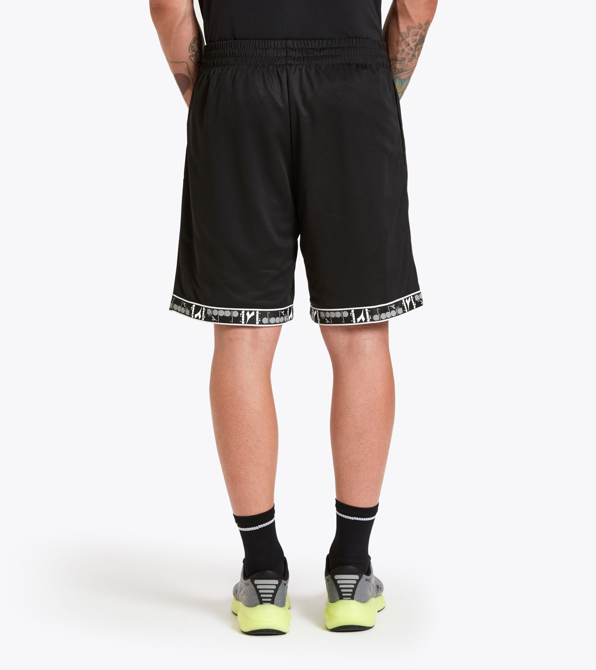 Men's reversible Bermuda workout shorts BERMUDA REVERSIBLE BUDDYFIT BLACK - Diadora