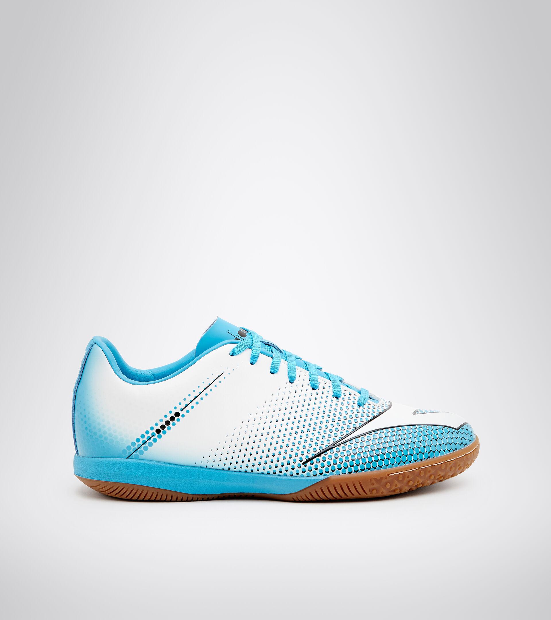 Chaussures de futsal pour terrains en intérieur et parquets - Unisexe BOMBER IDR BLANC/CYAN BLEU FLUO/NOIR - Diadora