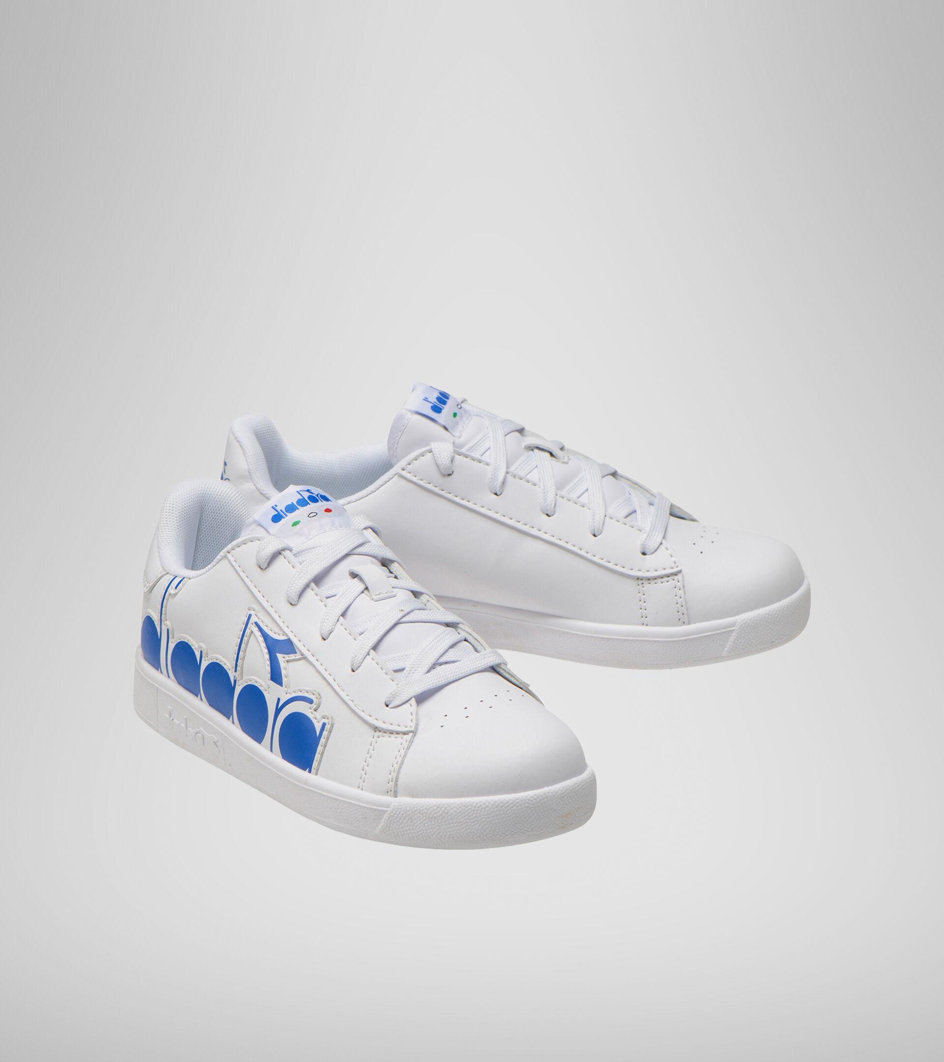 Footwear Sport BAMBINO GAME P BOLDER GS BIANCO/BLU MICRO Diadora