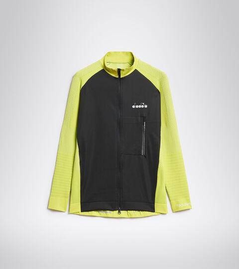 Italian-made running jacket - Men HIDDEN POWER JACKET GREEN SPRING - Diadora