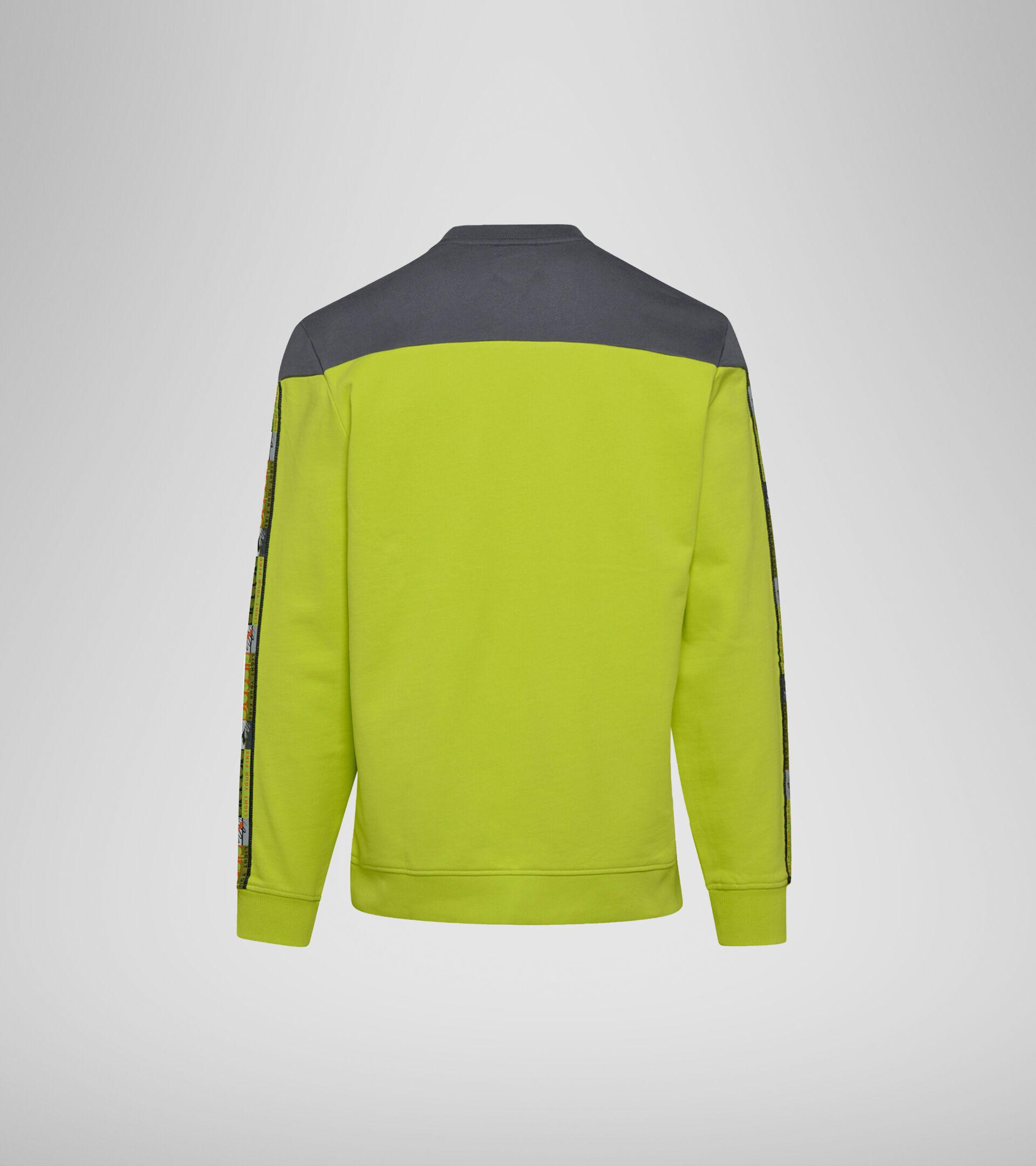 Crew-neck sweatshirt - Unisex  SWEATSHIRT CREW 5PALLE OFFSIDE V LIME PUNCH - Diadora