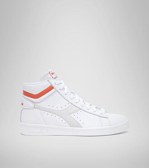 Footwear Sportswear UNISEX GAME L HIGH OPTICAL BRIGHT WHITE/TIGERLILY Diadora
