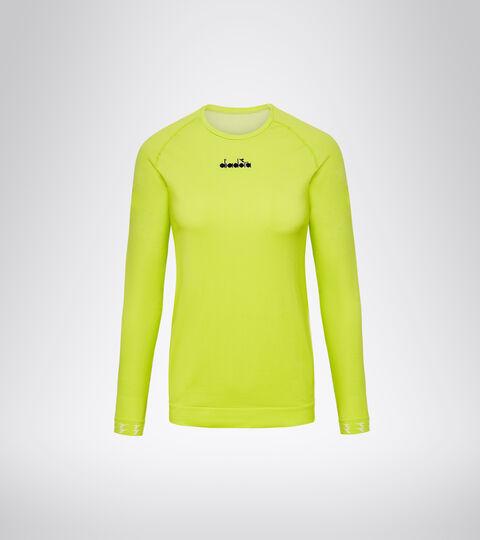 Italian-made running T-shirt - Women L. LS SKIN FRIENDLY T-SHIRT GREEN SPRING - Diadora