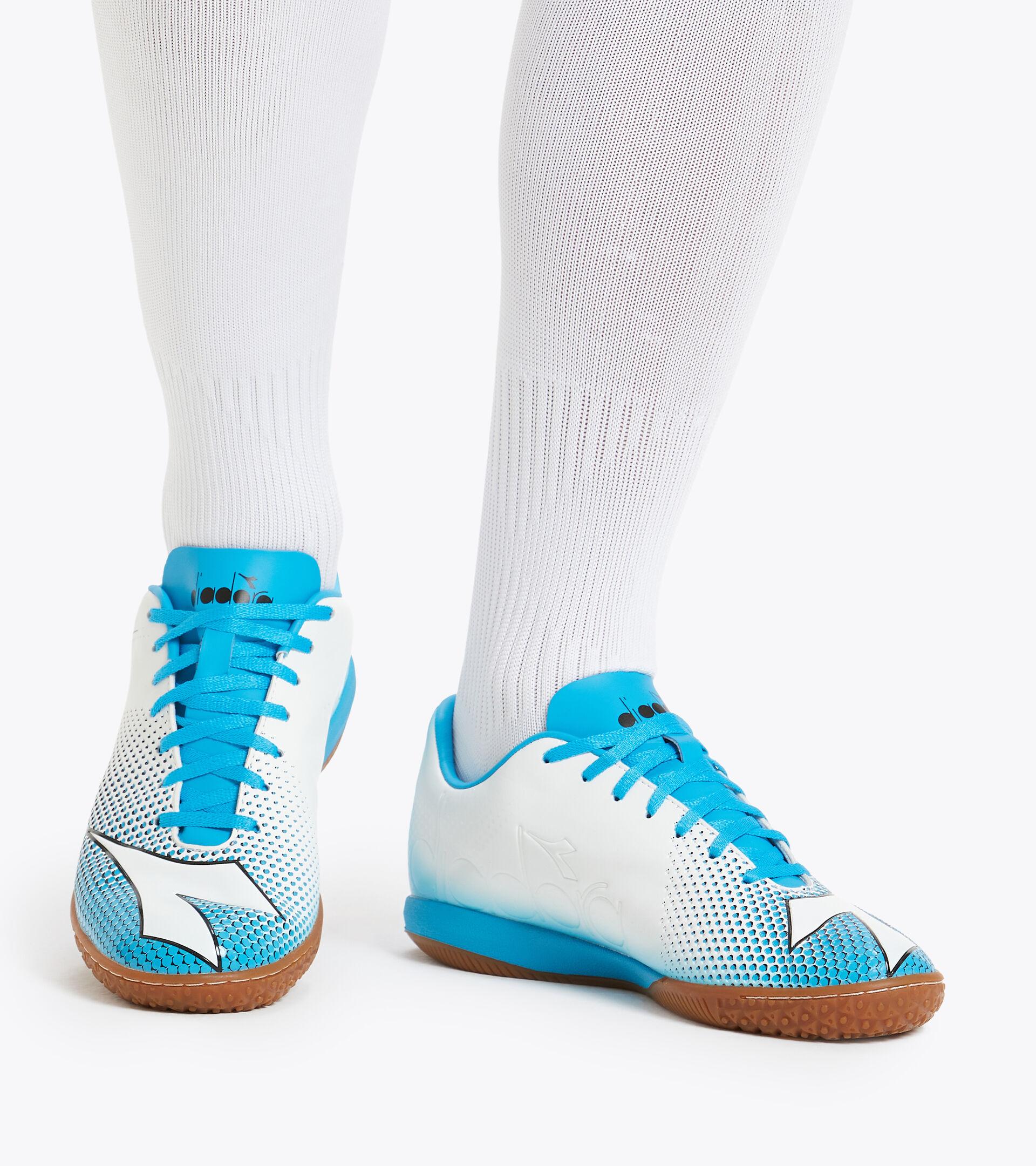 Footwear Sport UOMO BOMBER IDR BIANCO/AZZURRO CIANO FLUO/NERO Diadora