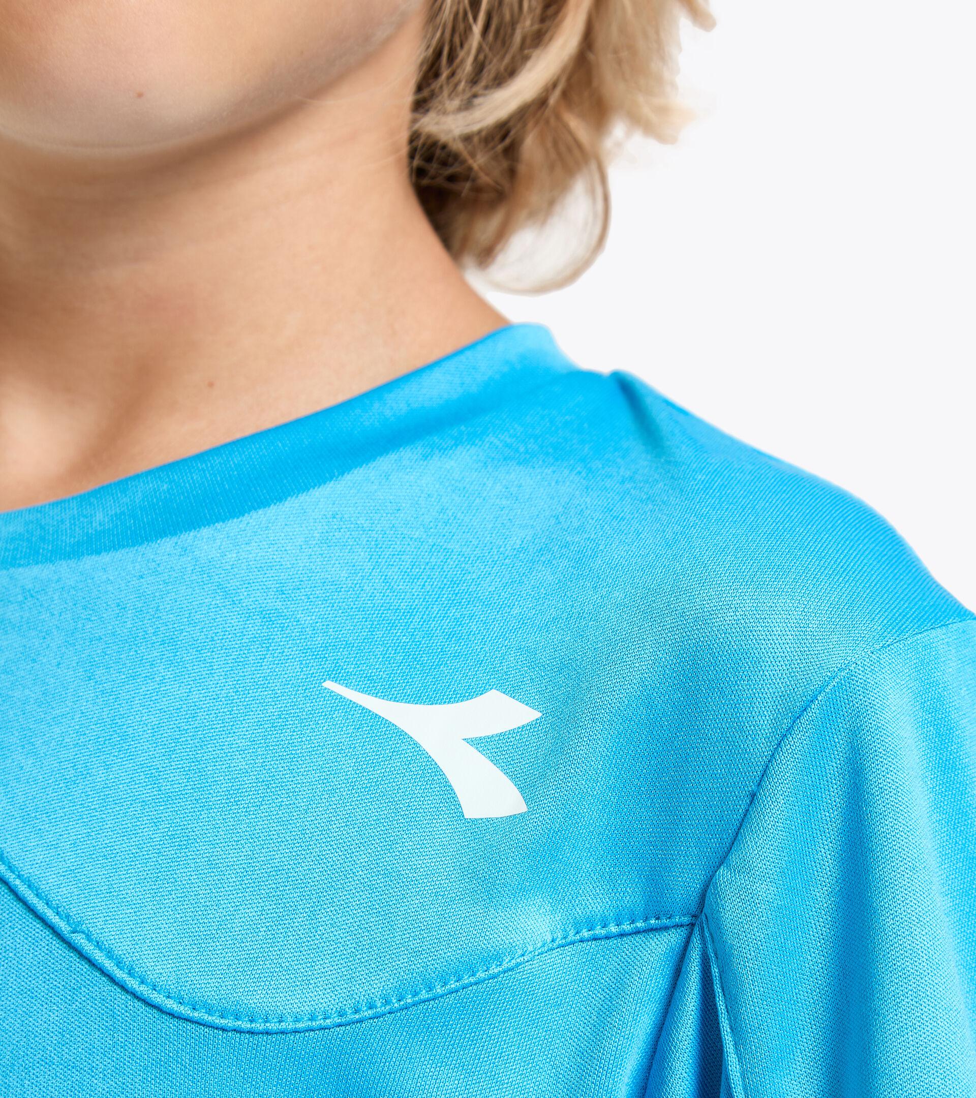 Camiseta de tenis - Junior J. T-SHIRT TEAM AZUL REAL FLUO - Diadora