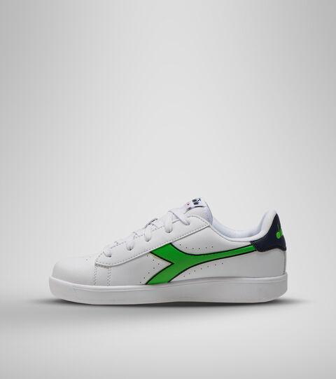 Sports shoes - Youth 8-16 years GAME P GS WHITE/BLACK IRIS/CLASSIC GREEN - Diadora