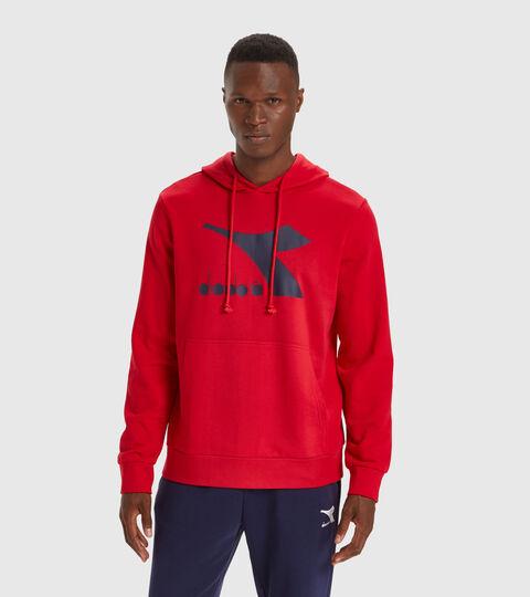 Hooded sweatshirt - Men HOODIE BIG LOGO TANGO RED - Diadora