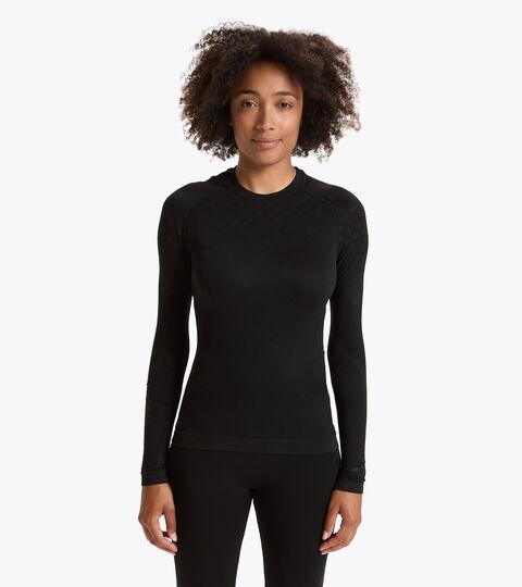 Long-sleeved training t-shirt - Women L. LS T-SHIRT ACT BLACK - Diadora