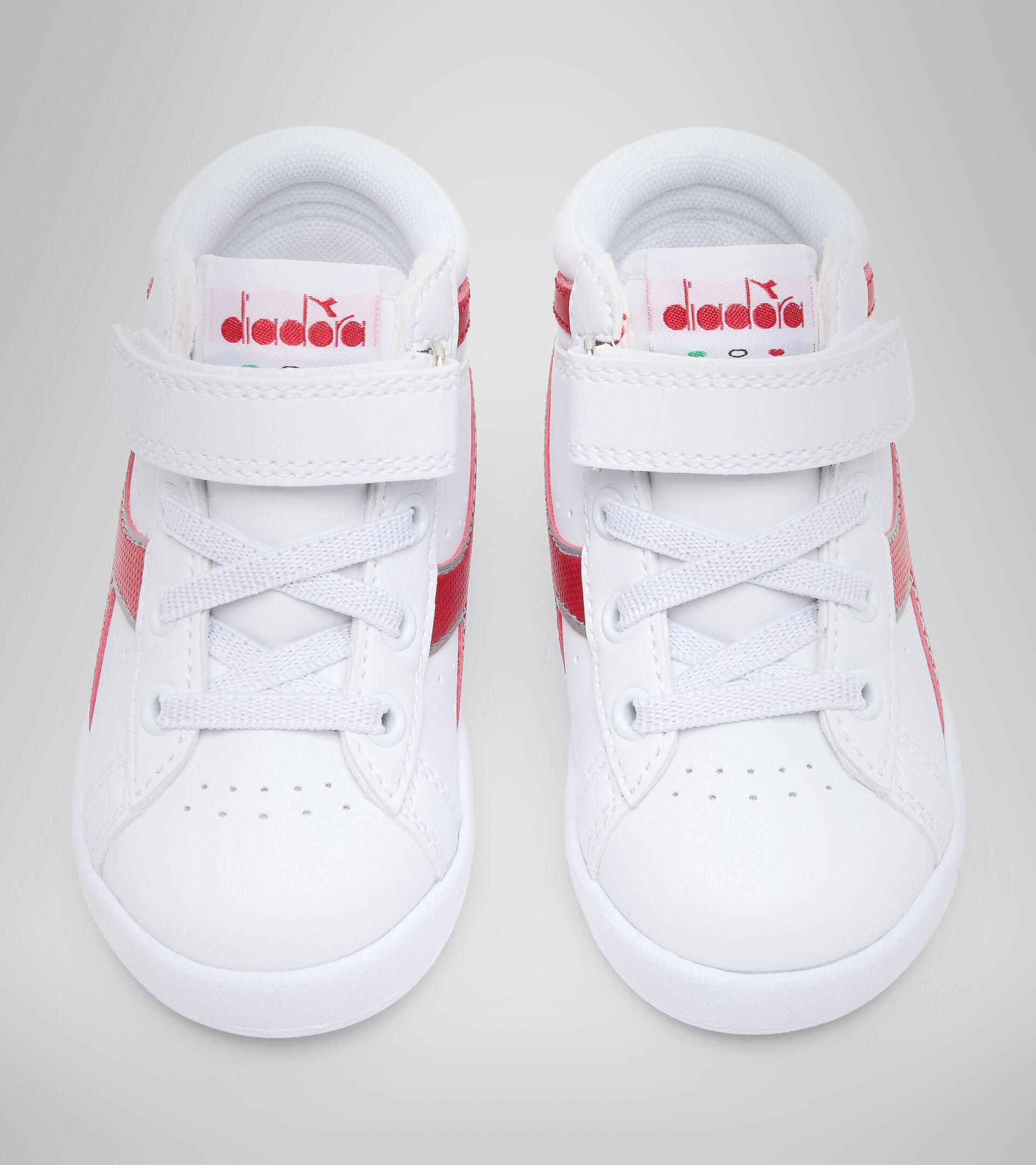 Footwear Sport BAMBINO GAME P HIGH TD BIANCO/ROSSO TANGO Diadora