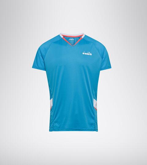 Tennis T-shirt - Men T-SHIRT BRIGHT CYAN BLUE - Diadora