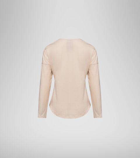 T-shirt a manica lunga - Bambina JG.LS T-SHIRT 5PALLE FUMATA BIANCA - Diadora