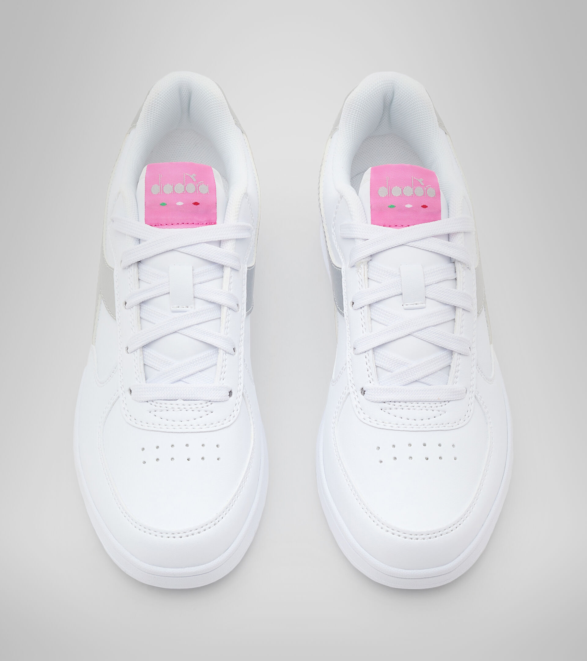 Footwear Sport BAMBINO RAPTOR LOW GS WHITE/SILVER Diadora