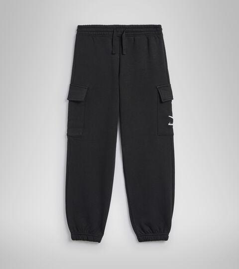 Sports trousers - Kids JB.PANTS CUFF HOOPLA BLACK - Diadora