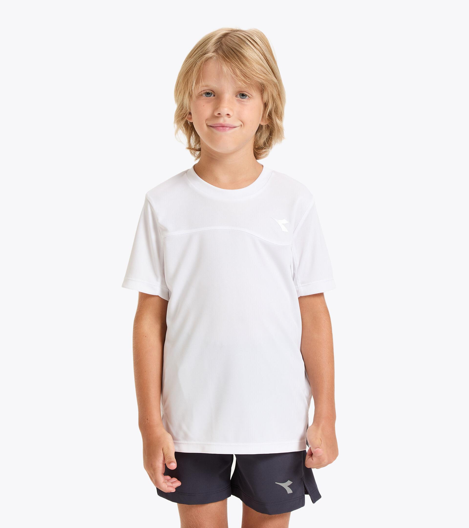 Tennis-T-Shirt - Junior J. T-SHIRT TEAM STRAHLEND WEISSE - Diadora